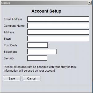 Desktop software signup